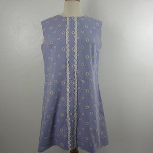 Original 60s Vintage Flower Power Shift Dress 10